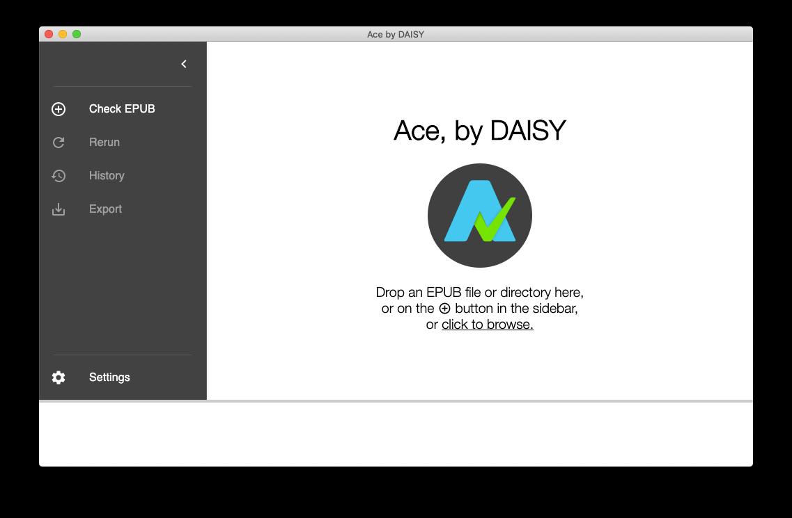 Ace App起動画面、