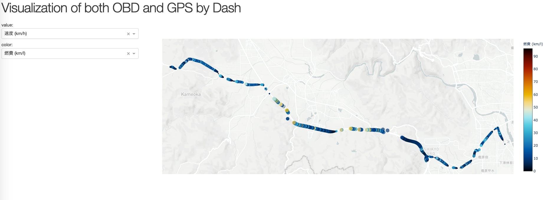 OBDから取得した車両データをDashとPlotly Expressで可視化する その2