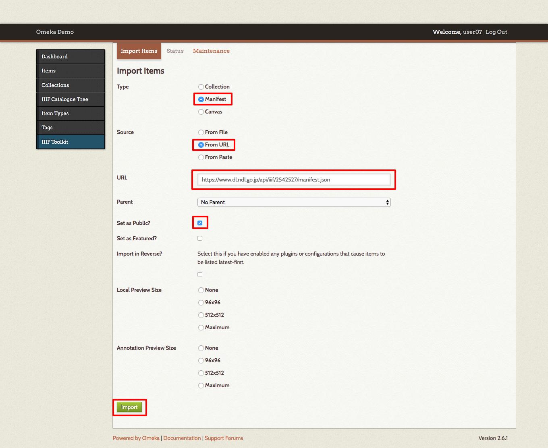 02-IIIF Toolkit · Omeka Demo · Omeka Admin.png