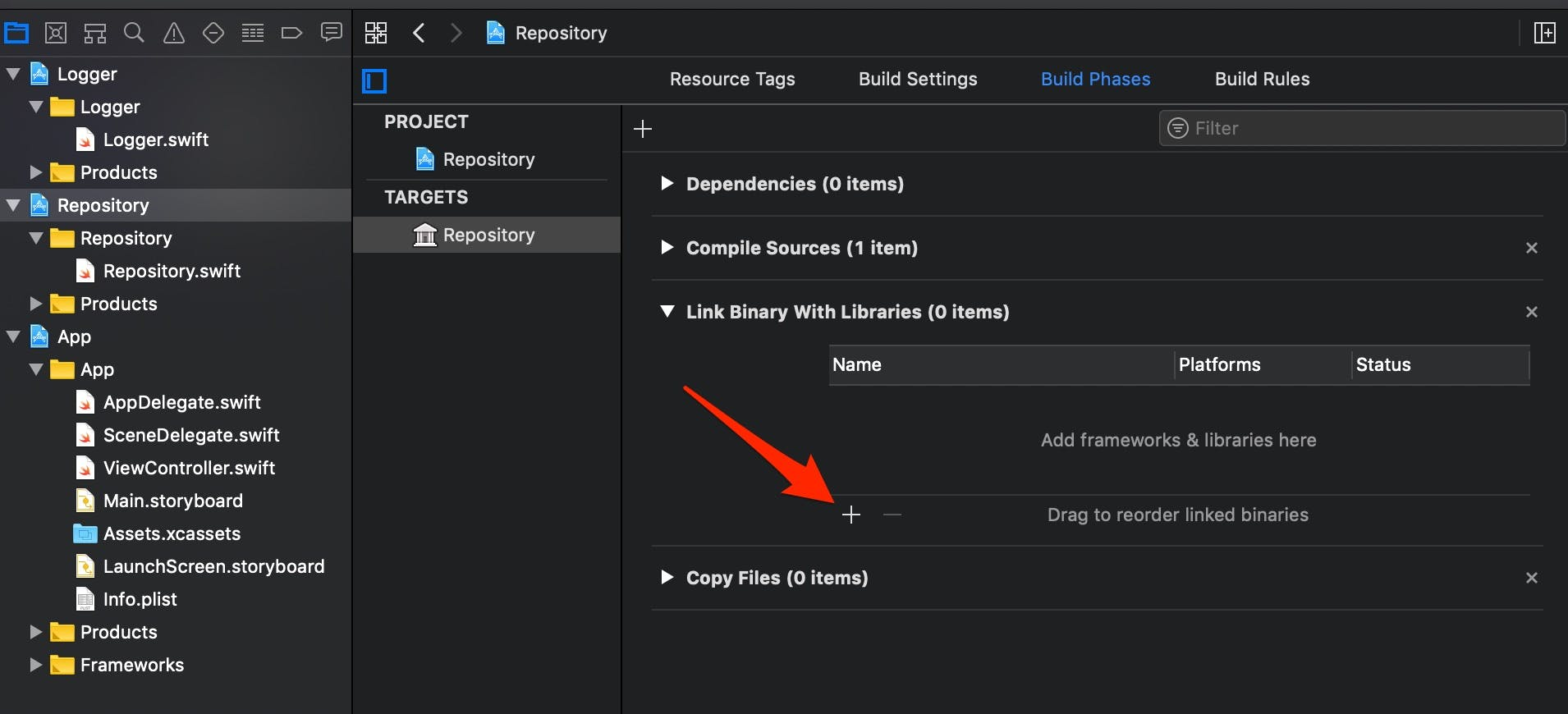 Repositoryにライブラリを追加