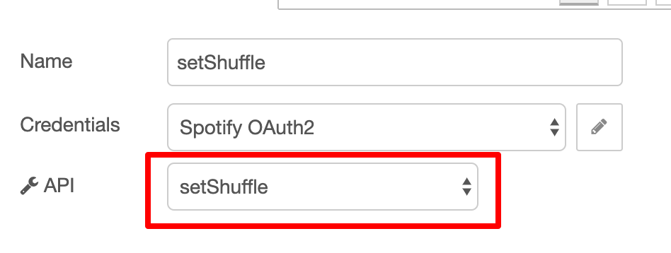 Node-RED spotify setShuffle.png