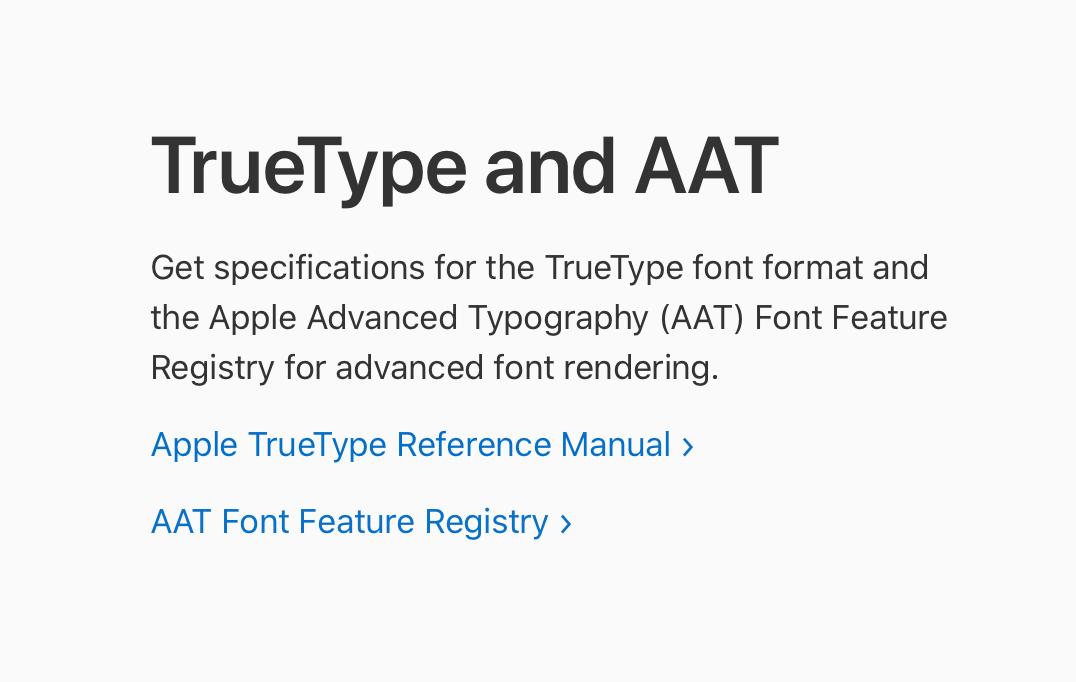 Fonts for Apple Platformsページのイメージ