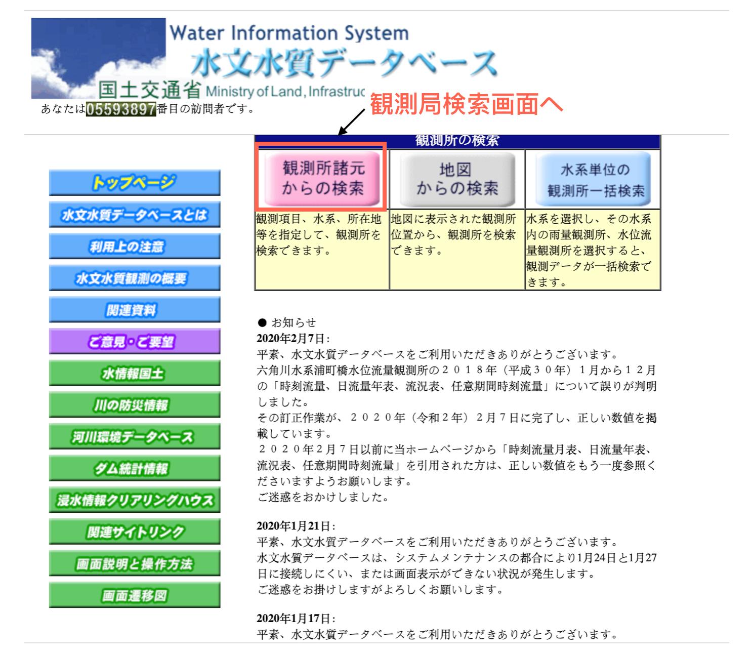 国土 交通 省 水文 水質 データベース 国土 交通 省 水文 水質 データベース