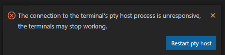 Terminal ホストの再起動