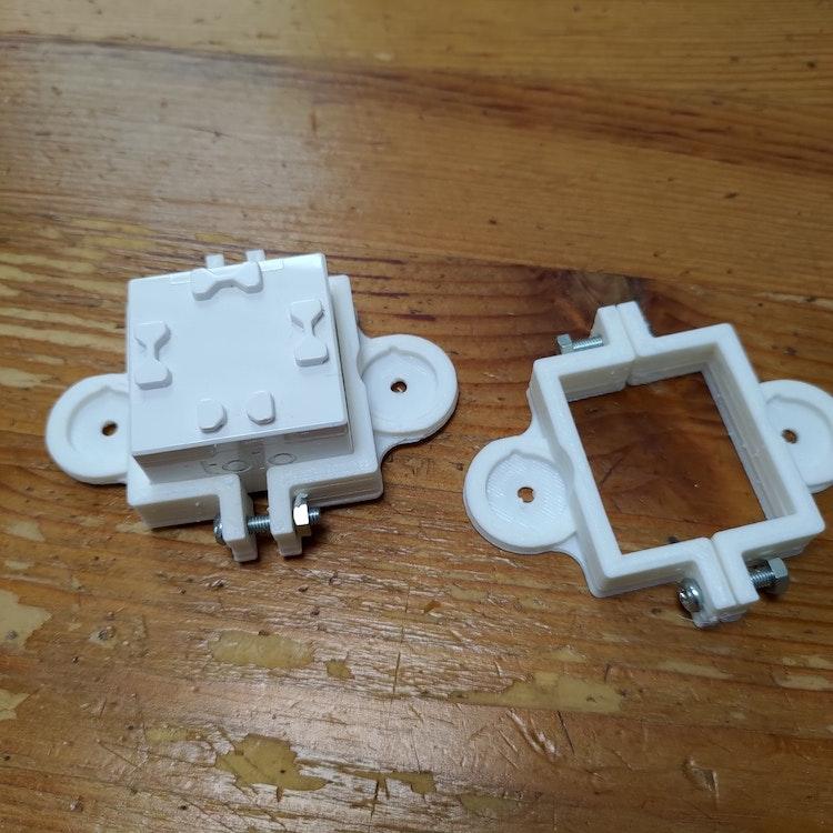 3Dプリンタで2つ出力してネジどめ