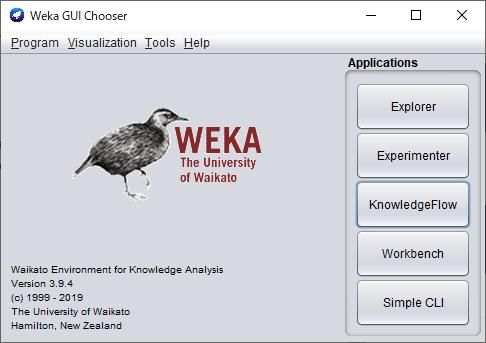 Weka GUI Chooser