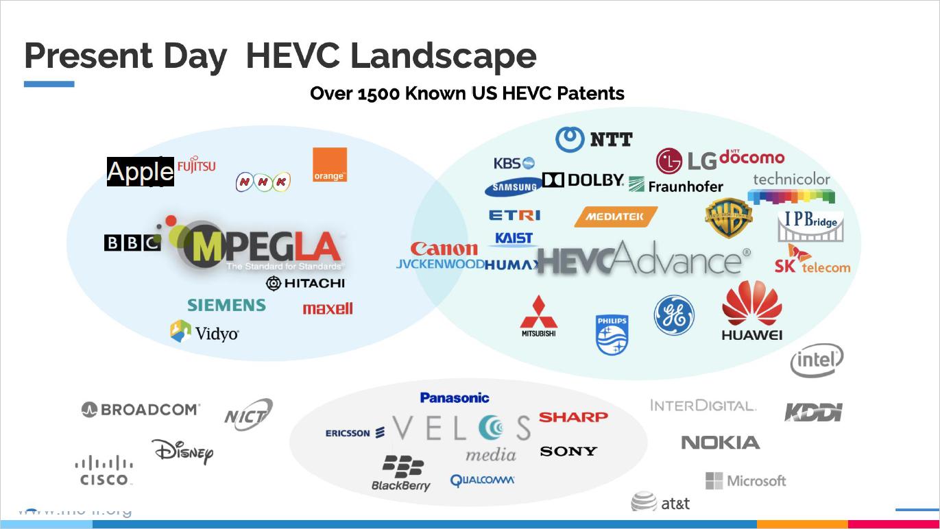 Present Day HEVC Landscape