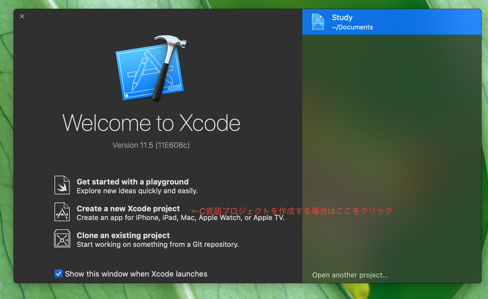 1.Xcode起動.png