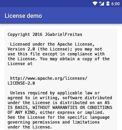 LicenseTextView