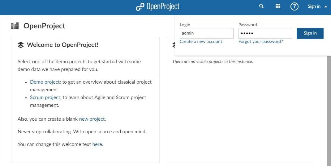 Openproject Demo