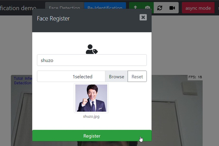 register face