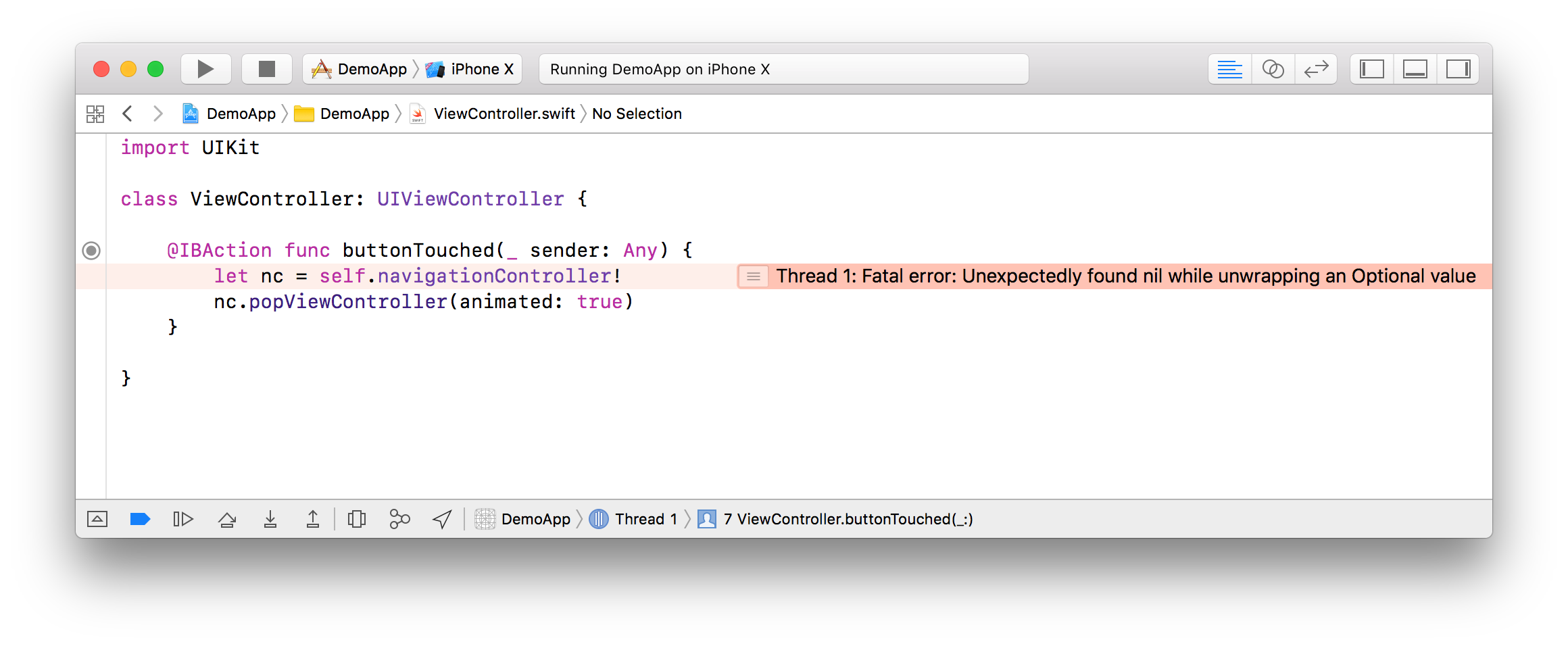 Xcode 9.1 Improves Display of Fatal Errors - Swift.org より