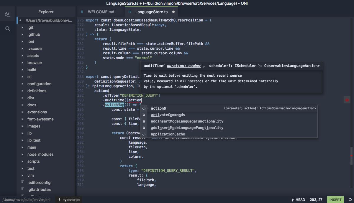 OniVim Screenshot