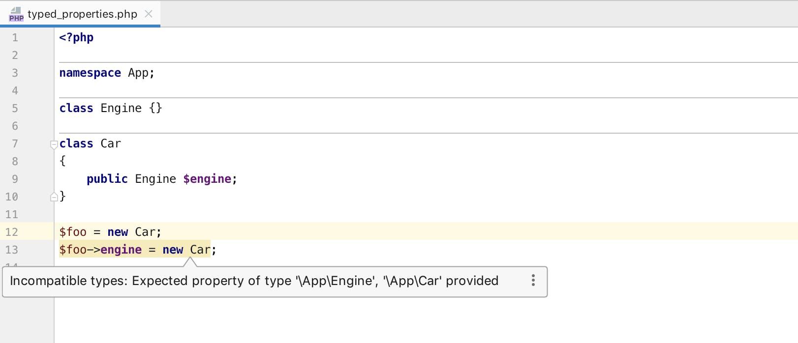 PHP 7.4の型付きプロパティのサポート