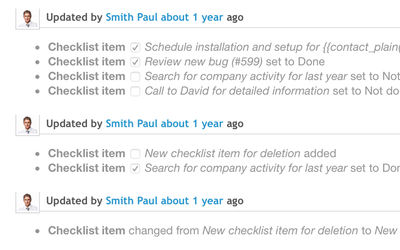 Integrated with issue history log